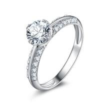 Ювелирные изделия из стерлингового серебра 0,8 карат, кольцо из стерлингового серебра 925 пробы на заказ(XJ
