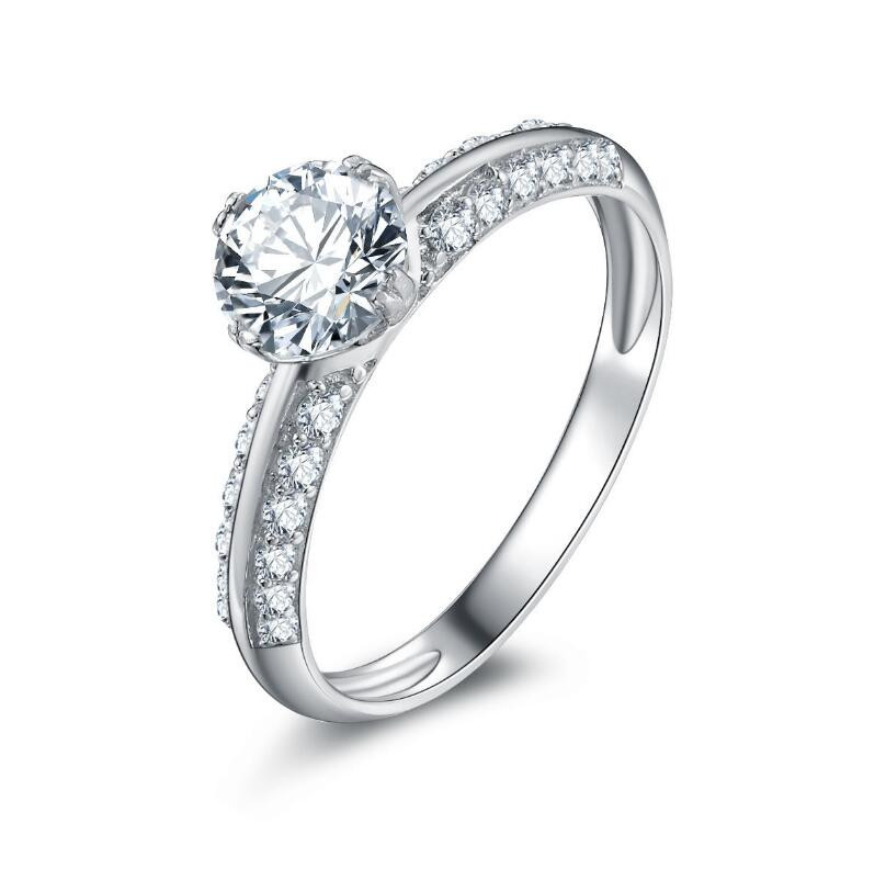 0.8 carat Sterling silver jewelry 925 sterling silver customized diamond ring (XJ)