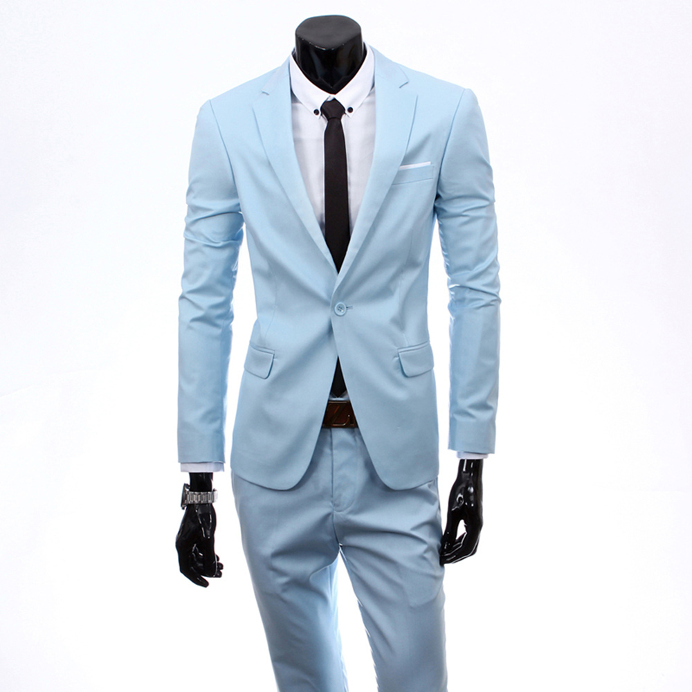 2018 Custom made Mens Suits Jacket Pants Formal Dress male One ...