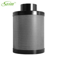 Saim 4 Inch Carbon Filter Air Purifier with Pre filter for Inline Fan Hydroponics Green Indoor Gardening Grow Tent Ventilation
