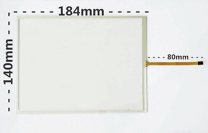 New 8 Inch 4 Line Screen, Touch Screen 184*140 Resistive Touch Screen AMT9507 184mm*140mm