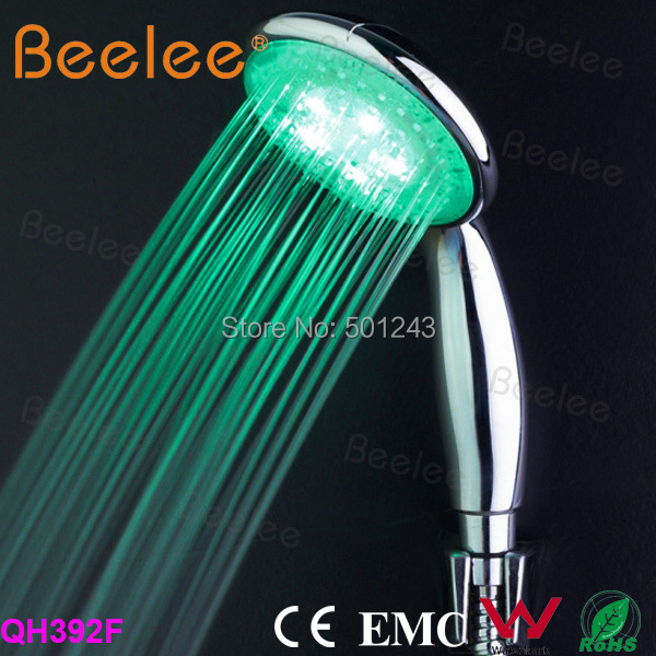 RGB 3 Color Changing LED Light Shower Head Sprinkler Automatic Control  Bathroom Shower Head Water Saving Round Hand Shower LED-in Shower Heads  from ...