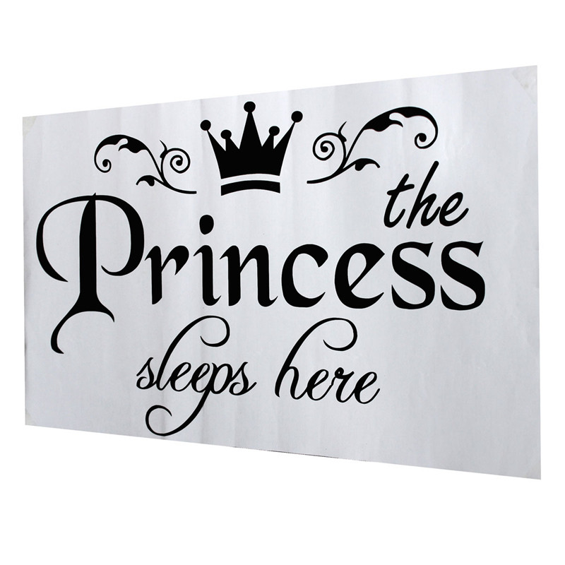 HTB10OFqKpXXXXaHaXXXq6xXFXXXO - New Arrival DIY Removable Princess Sleeps Wall Stickers For Kids Rooms