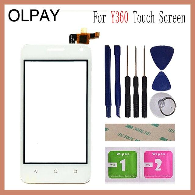 """OLPAY 4.0 """"화웨이 승천 Y360 Y336 Y3 Y336 U02 터치 스크린 유리 디지타이저 패널 렌즈 센서 유리 무료 접착제 및 닦음"""