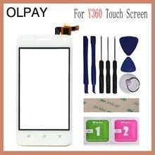 """Olpay 4.0 """"huawei社アセンドY360 Y336 Y3 Y336 U02タッチスクリーンガラスデジタイザパネルレンズセンサーガラス送料接着剤ワイプ"""