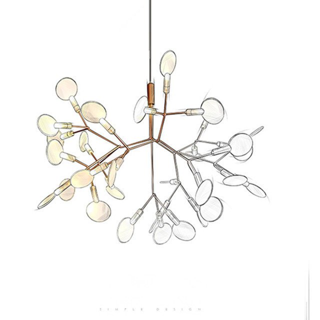 Nordic Art Tree Branch Chandeliers Led Leaves Dining Room Lights Coffee Bar Studio Light Fixtures Free