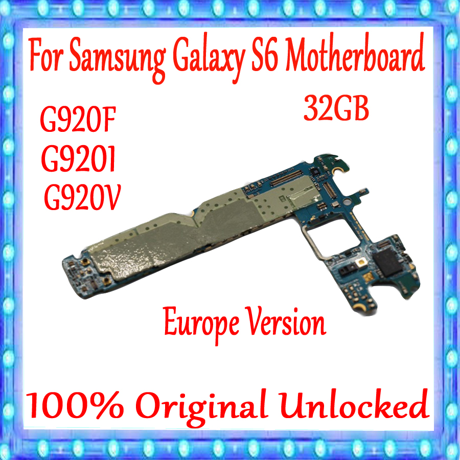 EU Version for <font><b>Samsung</b></font> <font><b>Galaxy</b></font> <font><b>S6</b></font> G920F G920I G920V Original unlocked Motherboard with Chips for <font><b>Galaxy</b></font> <font><b>S6</b></font> Logic <font><b>board</b></font> 32gb image