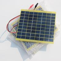 5W 18V Solar Panel Solar Cell For 12 Volt Garden Fountain Pond Battery Charger 1M Cable