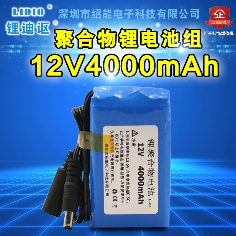 Caméra de surveillance vidéo de batterie de polymère de 12 V 4000 mAh, lampe audio extérieure électrique de charbon