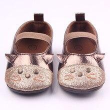Новое Прибытие Cute Cat Дизайн Два Цвета Резиновая Подошва резинка Детские Туфли Для Девочек 0-15 M