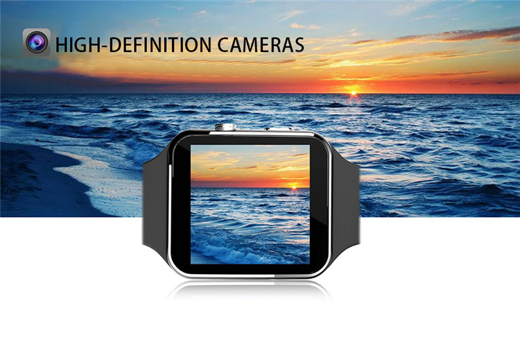 Fashion Black Sport Bluetooth Smart Watch For Android IOS Phone Call SIM Card Intelligent Watches 1.54\'\' HD LCD OGS Touch Screen (12)