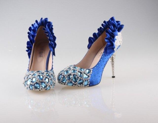 18c45f065c5dc Blue wedding shoes