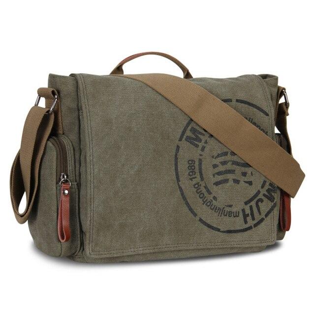 Men's Messenger Bags Canvas Shoulder Bag Fashion Men Business Crossbody Bag Printing Travel Handbag 1