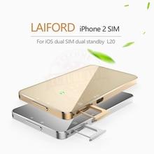 Ultra cienki podwójny 2 karty Sim Dual standby Bluetooth przedłużyć SIM Adapter L20 LAIFORD nie Jailbreak dla iPhone/iPod 6th iOS 10.3.3