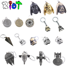 Star Wars Keychain Spacecraft warship Han Solo s Millennium Falcon Destroyer Ship StormTrooper Darth Vader Helmet