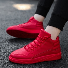 Hot Red High quality Comfortable Sneakers Teens Mens Shoes Black Casual Shoes Soft Fashion Sapatilhas Gray Adultes Footwear(China)