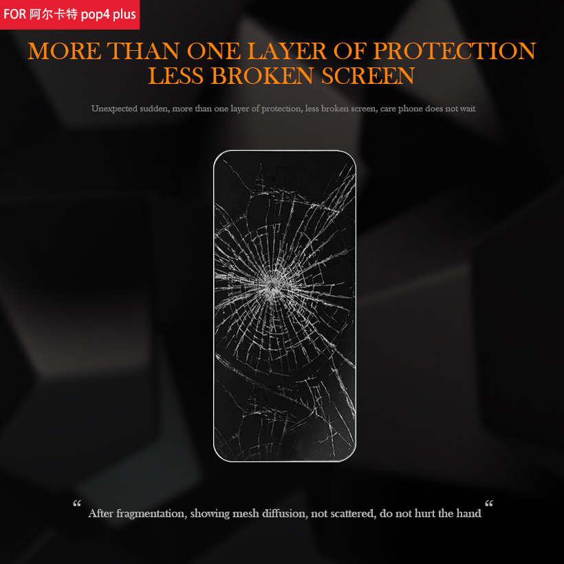 Uppbo Tempered Glass For Alcatel OneTouch POP 4 Plus 4S 5056 5056D 5051X 5059 Pixi 4 3 4034 8050E 5010 5045 Screen Protector in Phone Screen Protectors from Cellphones Telecommunications