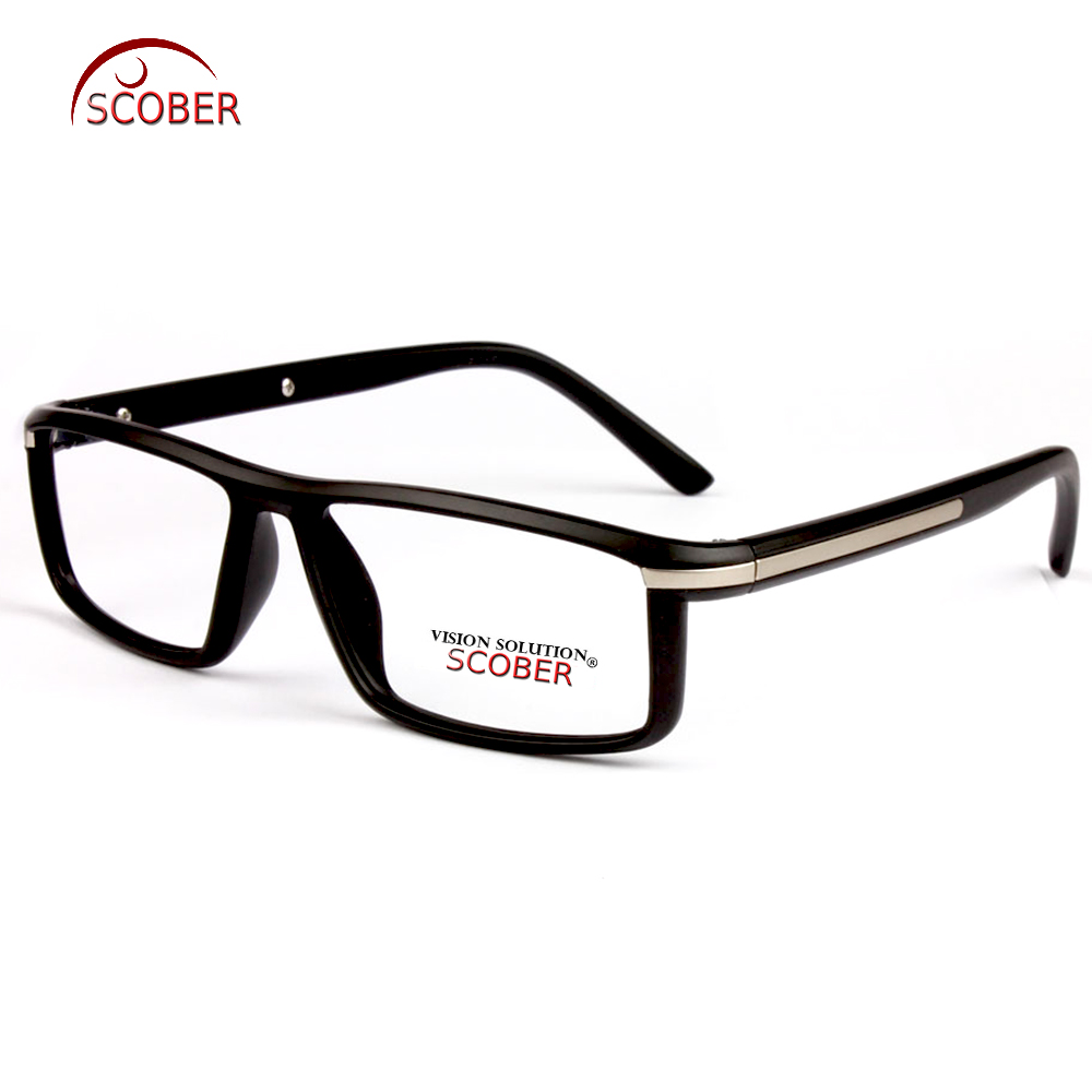 = SCOBER = Hand Made Frame Vollrand-Lesebrille Black Clear Young Artist Retro Brillenbrille + 0,75 +1 +1,25 bis +4