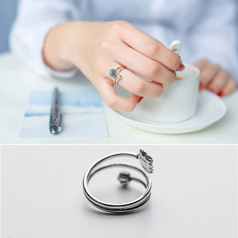 Women's Multilayer Style Lotus Ring 2