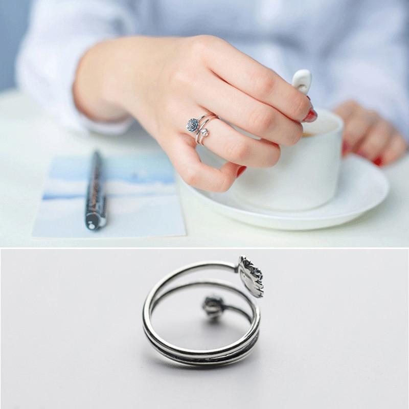 Women's Multilayer Style Lotus Ring 2