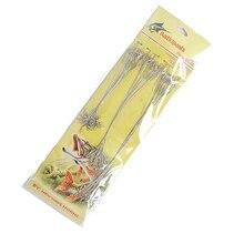 60 шт./лот серебристого цвета летающая рыболовная леска с вращающимися Вертлюгами и быстрой застёжка