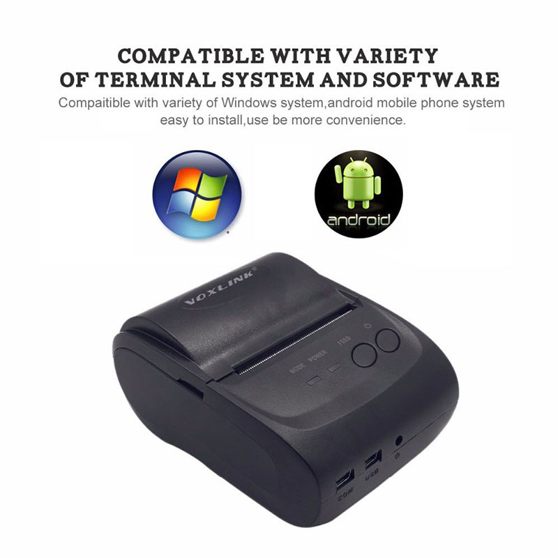 High quality 58mm Mini Wireless Bluetooth Android Portable Mobile Thermal Receipt Printer USB+serial port For Windows Andriod николай прохоренок python