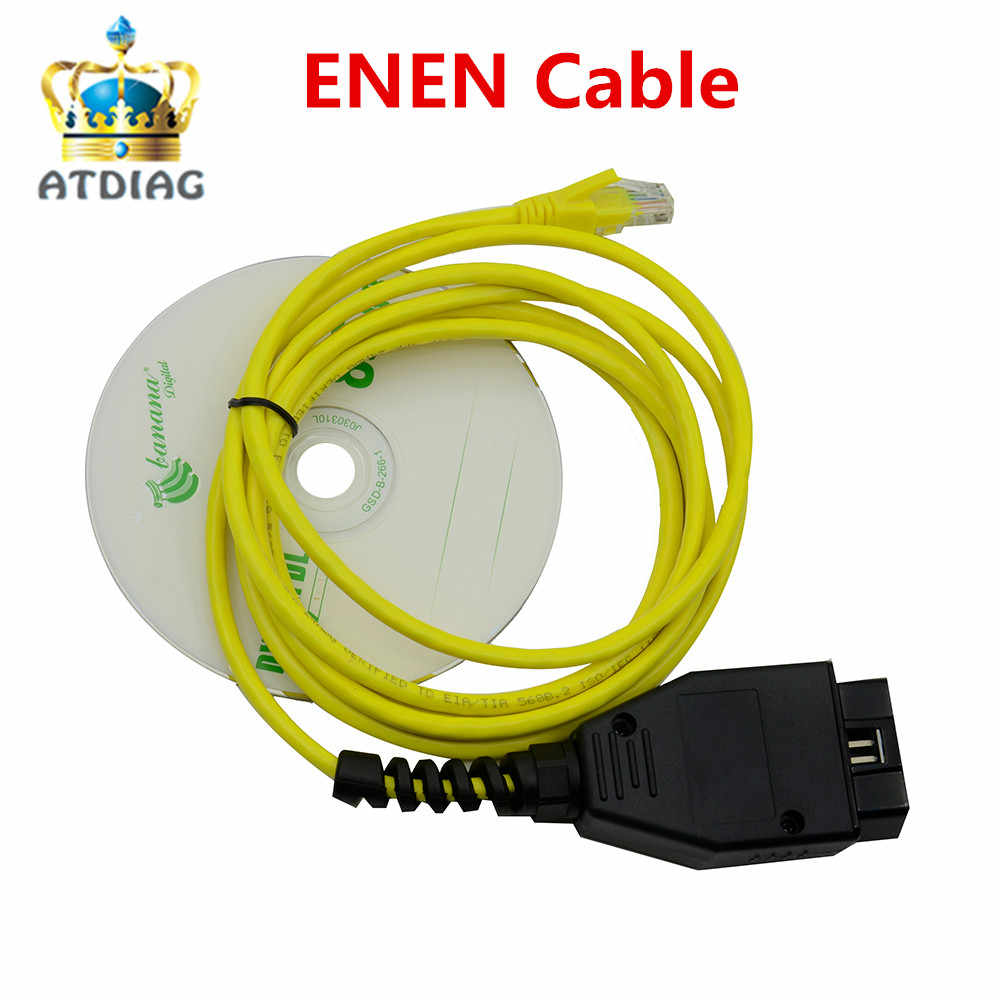 NEW Ethernet to OBD For BMW F Series ENET Cable E-SYS ICOM 2 Coding Without  CD ESYS ICOM Coding Diagnostic Tool