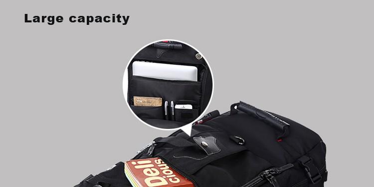 KAKA Men Backpack Travel Bag Large Capacity Versatile Utility Mountaineering Multifunctional Waterproof Backpack Luggage Bag 14