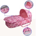 GAMA BABY Portable Baby Bassinet Bed Baby Cradle Sleeping Bassinet Cotton 100% Safe