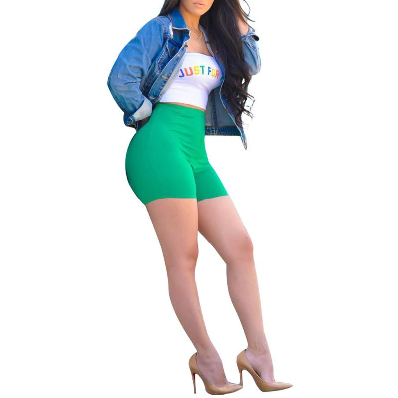Women Summer 2 Piece Outfits Strapless Rainbow Letters Bandeau Crop Top High Waist Bright Color Biker Shorts Set Club Streetwear in Women 39 s Sets from Women 39 s Clothing