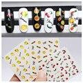 1 Unids de Transferencia de Agua Nails Art Sticker Piña Limón Fruta de la Cereza Diseño Envolturas de Uñas Pegatina Marca de Agua Calcomanías de Uñas