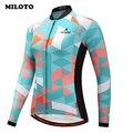 Miloto Pro Team Warme Winter Radfahren Kleidung Langarm Thermo fleece Radtrikot mtb Bike Jersey Rennen Fahrrad Kleidung-in Rad-Trikots aus Sport und Unterhaltung bei