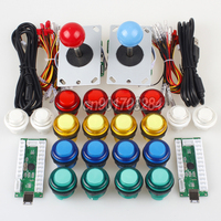 2 Player Arcade Raspberry Pi 1 2 3 Project Arcade Push Buttons 5V + 5 Pin Arcade Stick + USB Encoder Board to PC Mame Games