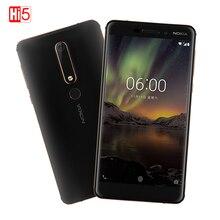 Оригинальный 2018 Nokia 6 2 го второго поколения 4 ГБ 32 ГБ/64 ГБ Восьмиядерный процессор Snapdragon 630 Android 7 16,0 Мп 3000 мАч 5,5 мобильный телефон