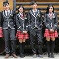 Servicio de Clase Uniforme escolar de Manga Larga Otoño E Invierno Los Niños, niñas Uniformes Amantes Pequeño Traje Chaqueta Conjuntos