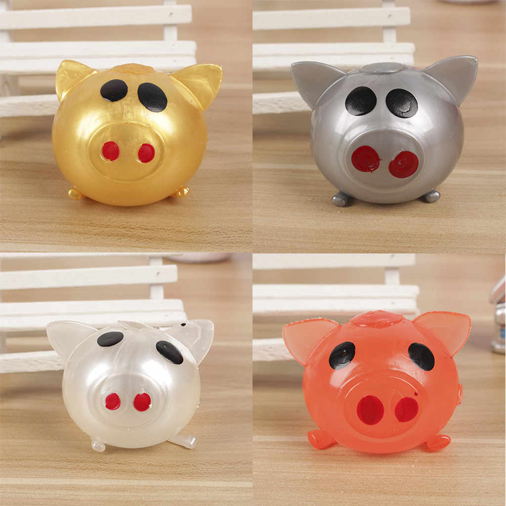 Cute children vent pig toy spoof toy jelly pig puzzle educational toy water pig ball fashion toy 2019 newstyle
