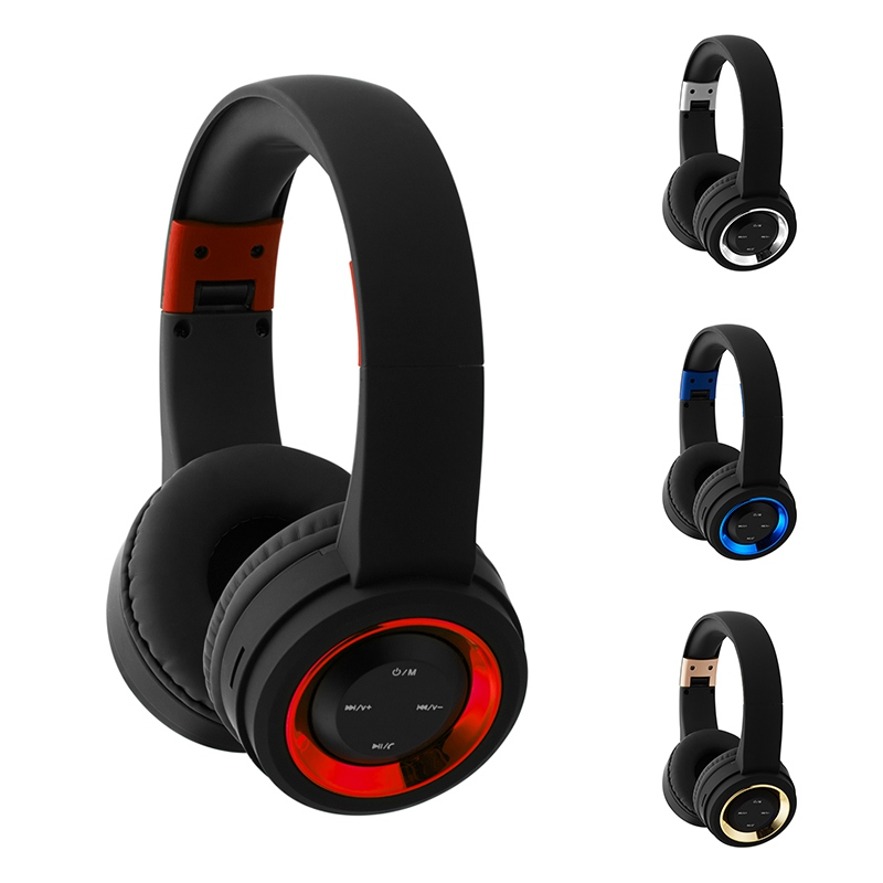 Wireless Bluetooth Headphone with Microphone Support TF Card FM Radio Stereo Deep Bass Headset for Iphone Mp3 Smartphone
