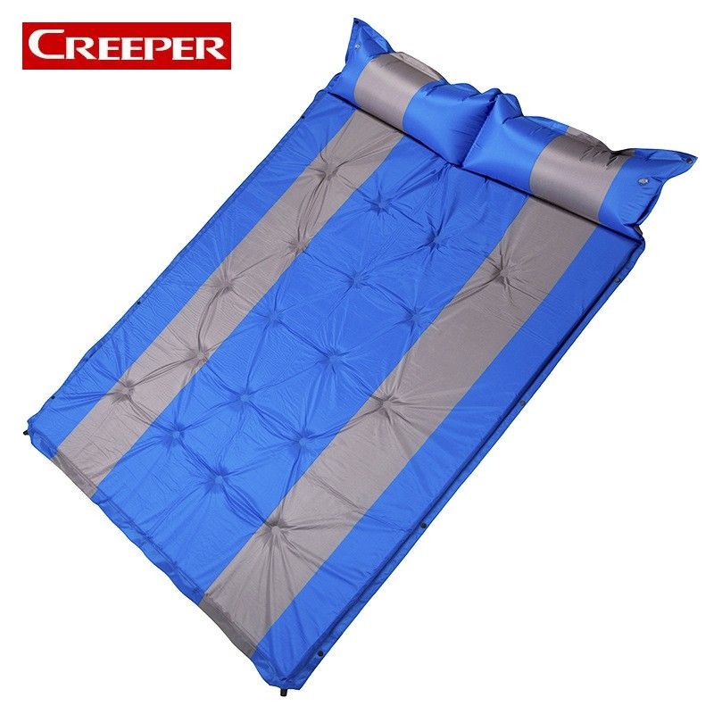 Outdoor Self Inflating Travel Mat In The Tent Folding Bed For Camping Carpet For The Beach Cama Hinchable Tapis Plage Waterproof outdoor double layer 10 14 persons camping holiday arbor tent sun canopy canopy tent