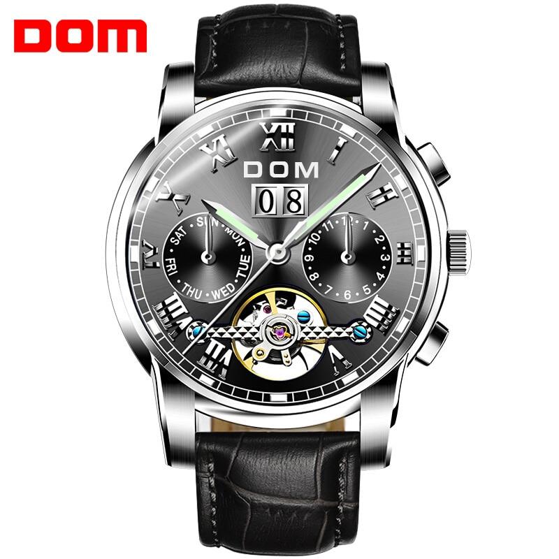 Luxury Fashion Top Brand Mechanical Watches Sport DOM Watch Men Waterproof Clock Mens Brand Wristwatch Relogio Masculino