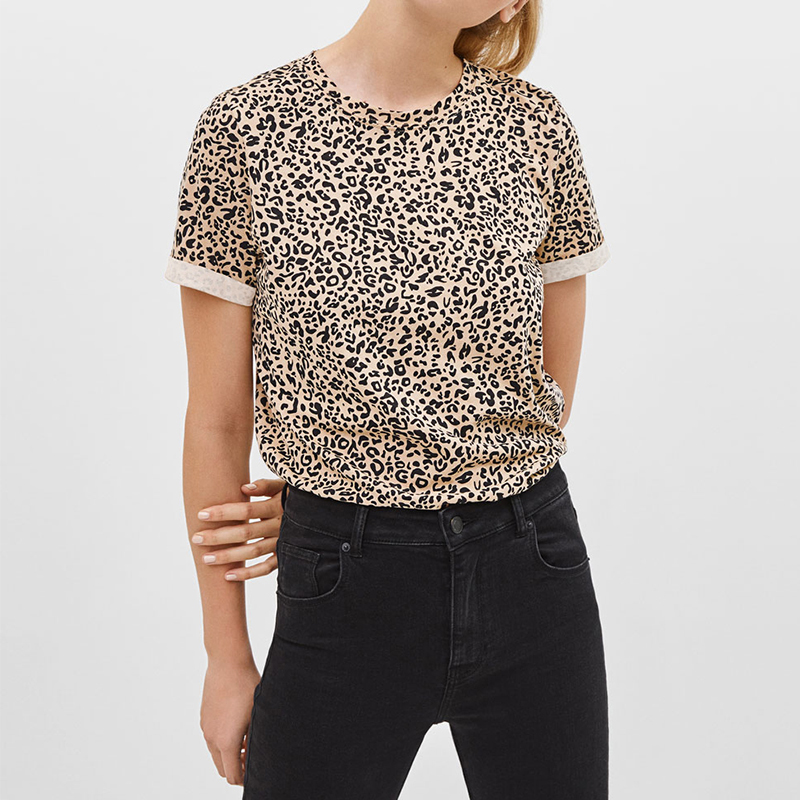 Women Tshirt Summer Casual O-neck Leopard Print T Shirt Fashion Short Sleeve Tunic Tops Streetwear Camisetas Verano Mujer 2019