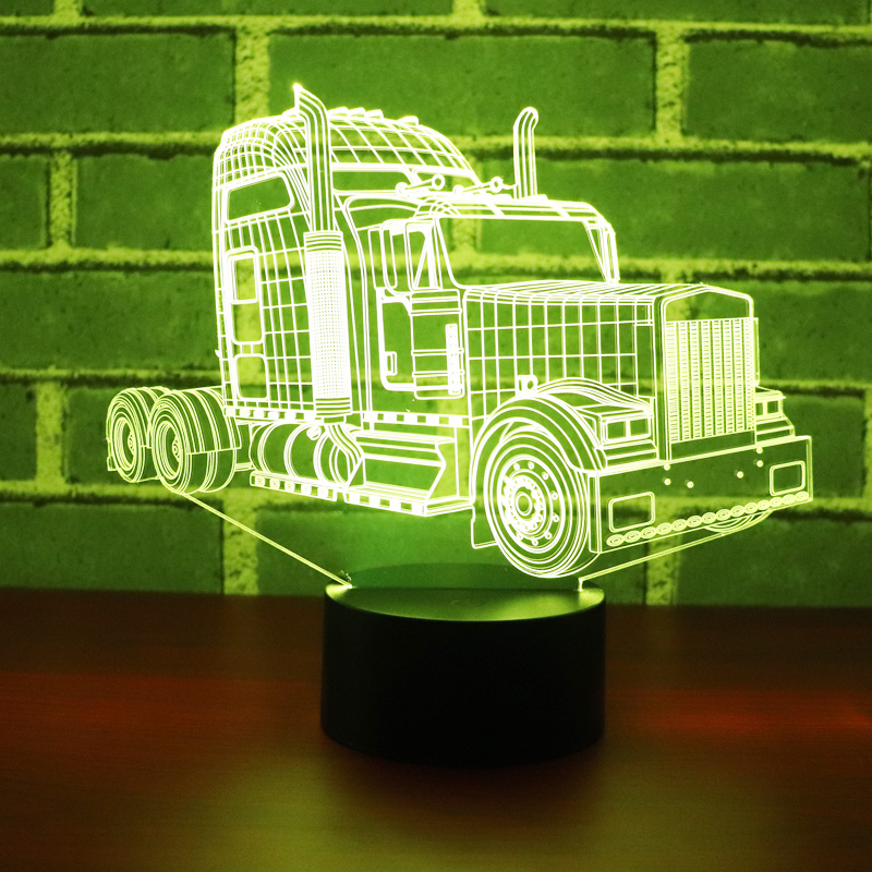 3D LED Night Light Truck Car with 7 Colors Light for Home Decoration Lamp Amazing Visualization Optical Illusion Awesome3D LED Night Light Truck Car with 7 Colors Light for Home Decoration Lamp Amazing Visualization Optical Illusion Awesome
