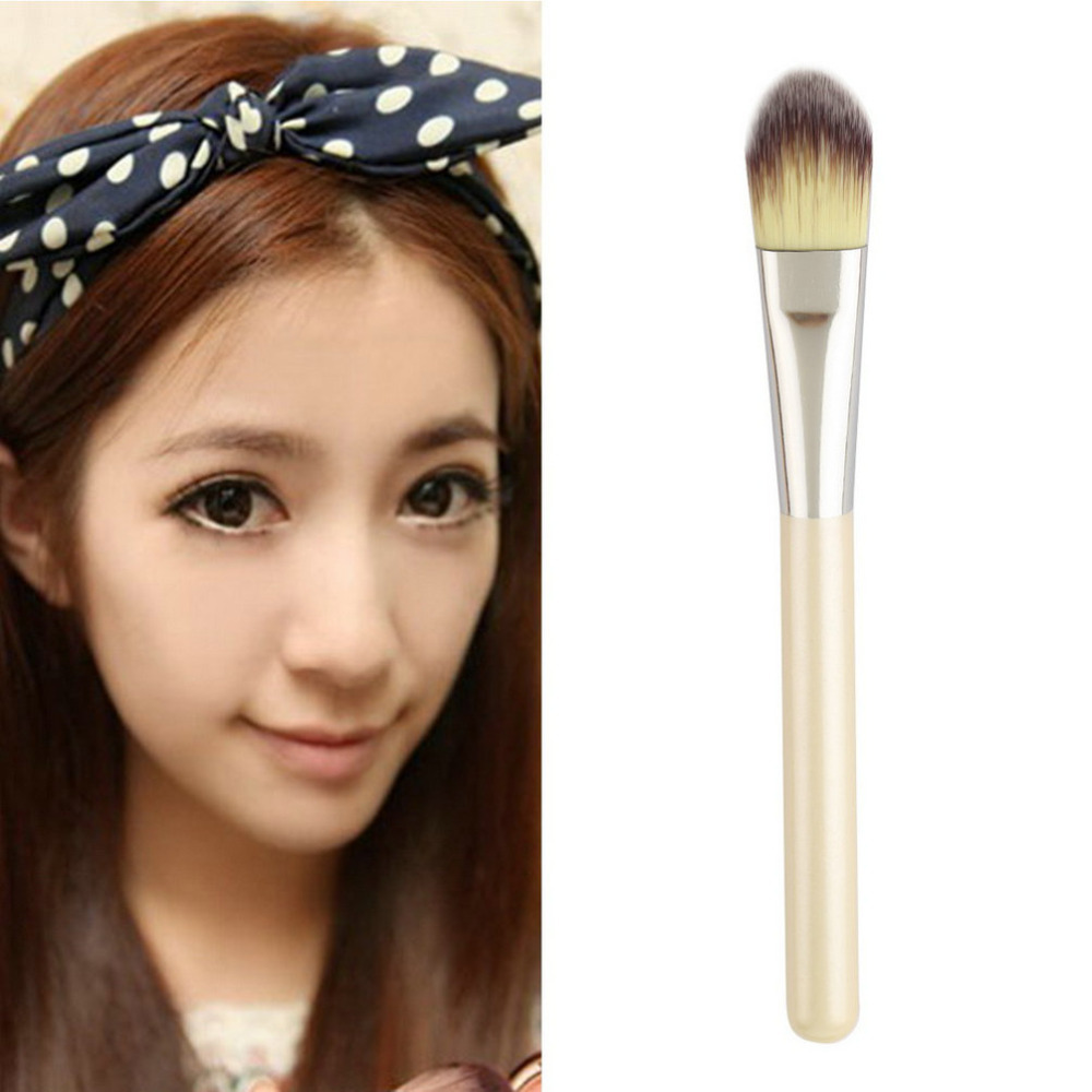 2015 Popular 1pcs Face Makeup Brush set Mask Painting Brush Foundation Flat Top Brushes For Face Cosmetics Hand to Make up-in Eye Shadow Applicator from ...