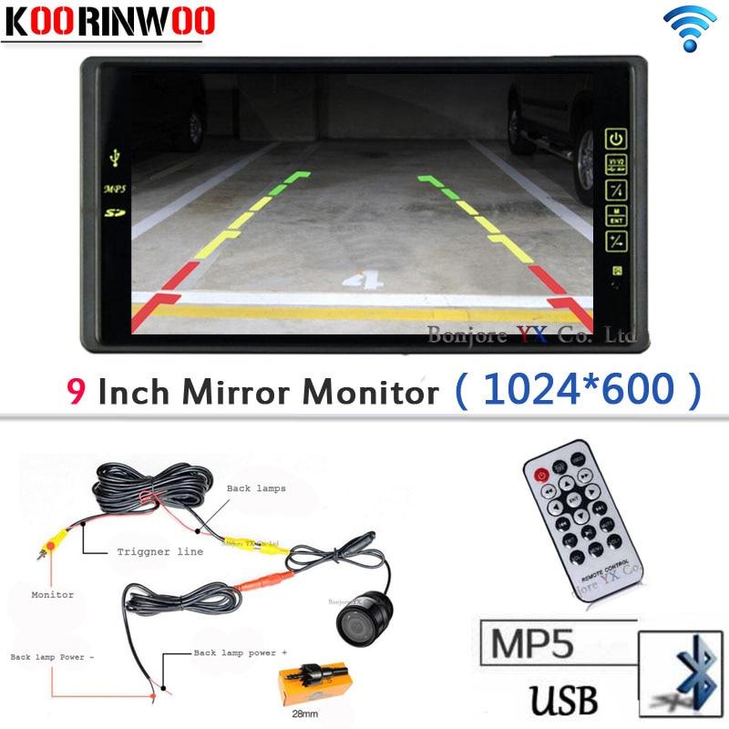Wireless 9 Car Monitor Auto 1024 600 Bluetooth MP5 FM Media USB SD SLOT Video Car