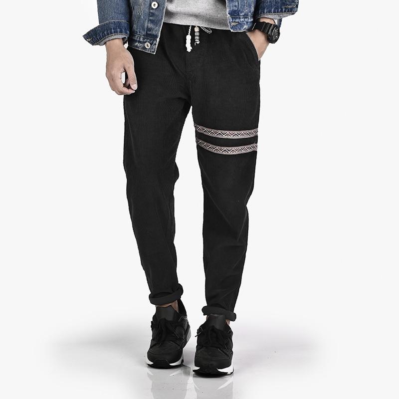 2017 Chinesischen Stil Mens Casual Hosen Vintage Winter Sweatpant Männer Cord Harem Hose Gerade Männliche Hosen Jogger Großen Größe 3xl