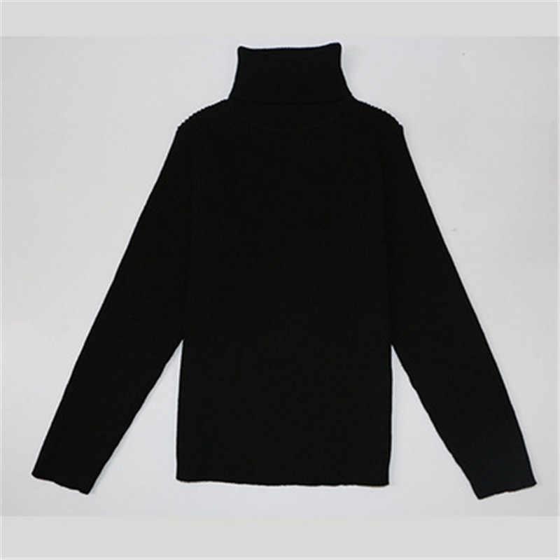 저렴 한 새로운 2018 가을 아기 소년 소녀 터틀넥 스웨터 아이 소녀 스웨터 겨울 니트 bottoming 소년 스웨터 aa2994