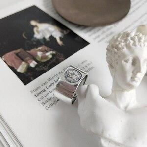 Image 4 - LouLeur 925 فضة إمبراطورة الرمزية خواتم فضة موضة خمر الرقم السبابة خواتم مفتوحة للنساء غرامة مجوهرات