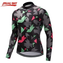 2019 Team FUALRNY Long sleeve Ropa Ciclismo Cycling Jersey 100% Polyester/Autumn Mountian Bicycle Clothing/MTB Bike Clothes Man цены