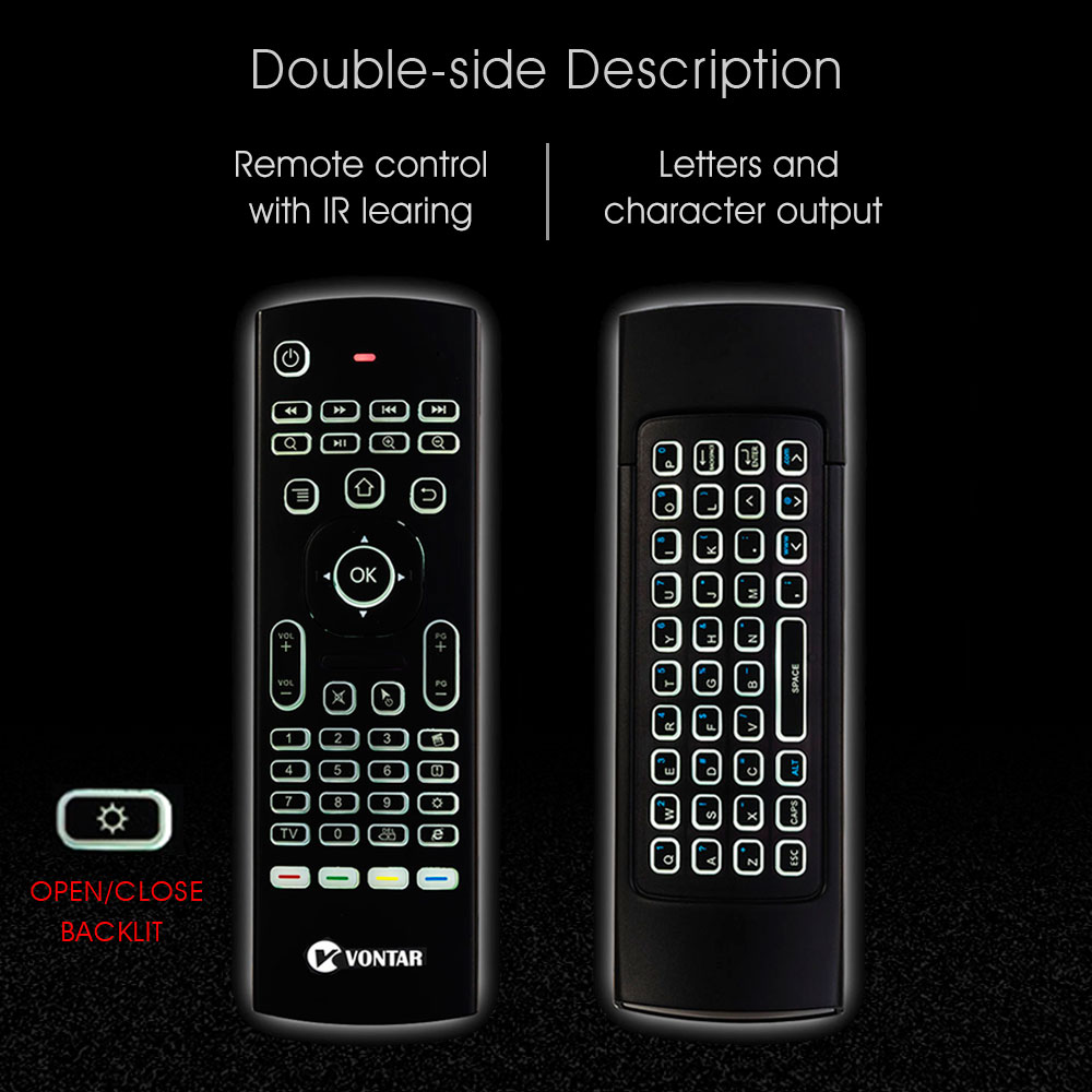 Image 4 - MX3 Backlit Air Mouse Smart Voice Remote Control MX3 Pro 2.4G wireless keyboard Gyro IR for Android TV Box T9 X96 mini H96 max-in Keyboards from Computer & Office