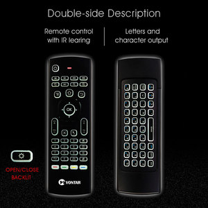 Image 4 - MX3 Backlit Air Mouse Smart Voice Remote Control MX3 Pro 2.4G wireless keyboard Gyro IR for Android TV Box T9 X96 mini H96 max