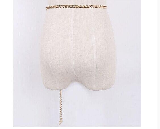 Новый 2015 золотая цепь ремень женский все-матч ремни письмо h ссылка широкий пояс модные ремни для женщин Женские Ремни Пояс дамы